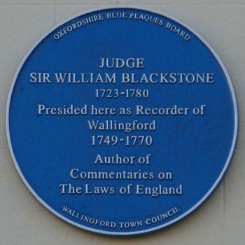 Blackstone plaque