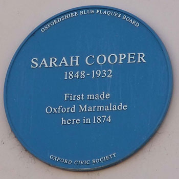 Plaque to Sarah Cooper