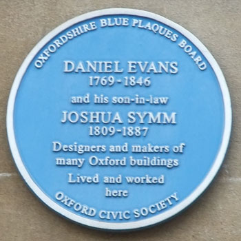 Plaque to Evans and Symm