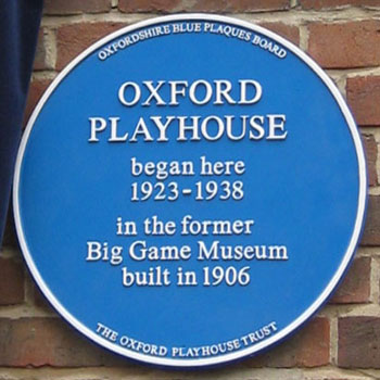 Oxford Playhouse plaque