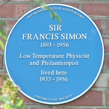 Plaque to Francis Simon