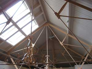 Inside of the roof